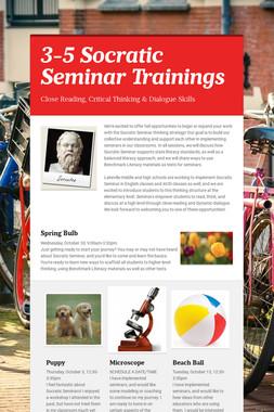 3-5 Socratic Seminar Trainings