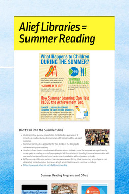 Alief Libraries = Summer Reading