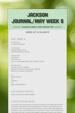JACKSON JOURNAL/MAY WEEK 5