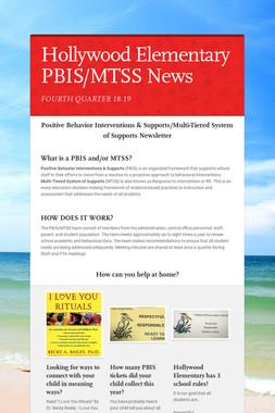 Hollywood Elementary PBIS/MTSS News
