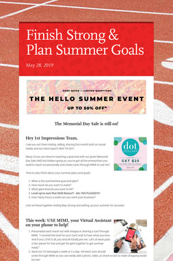Finish Strong & Plan Summer Goals
