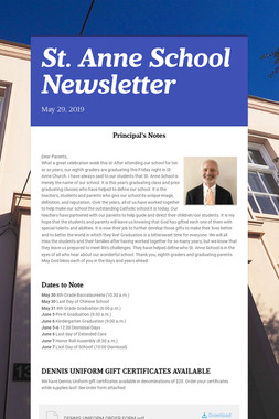 St. Anne School Newsletter