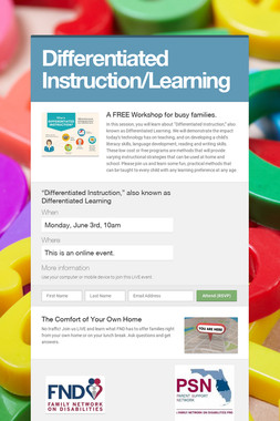 Differentiated Instruction/Learning