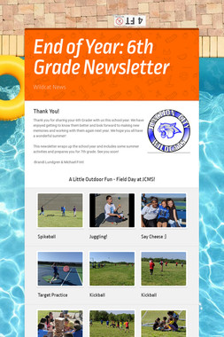 End of Year: 6th Grade Newsletter