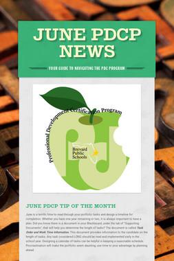 June PDCP News