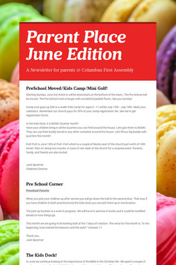 Parent Place June Edition