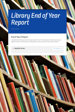 Library End of Year Report