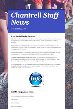 Chantrell Staff News