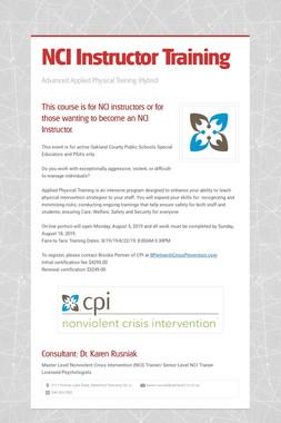 NCI Instructor Training