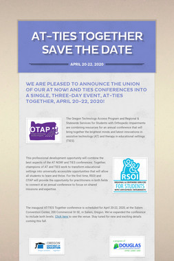 AT-TIES Together Save the Date