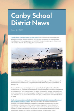 Canby School District News