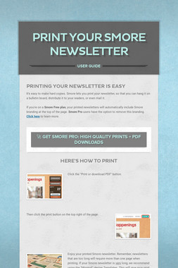 Print Your Smore Newsletter