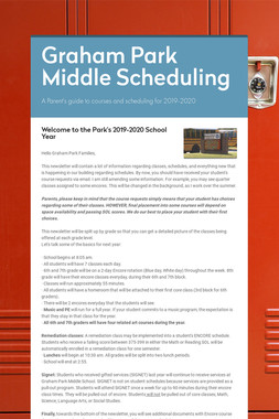 Graham Park Middle Scheduling