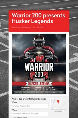 Warrior 200 presents Husker Legends