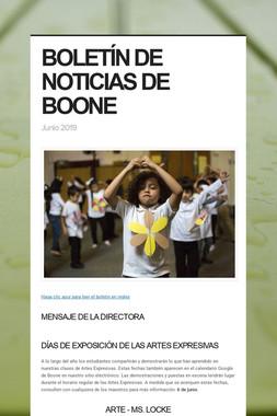 BOLETÍN DE NOTICIAS DE BOONE