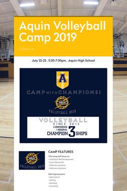 Aquin Volleyball Camp 2019