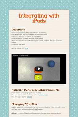 Integrating with iPads