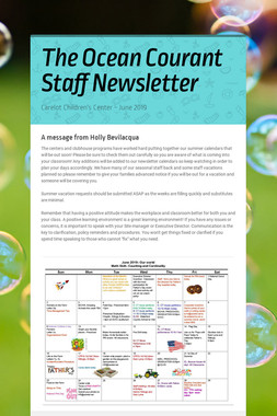The Ocean Courant  Staff Newsletter