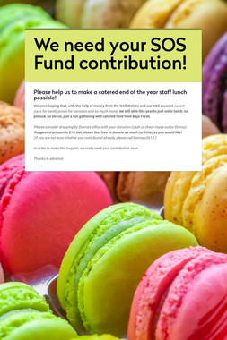 We need your SOS Fund contribution!