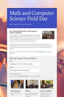 Math and Computer Science Field Day