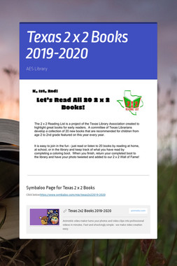 Texas 2 x 2 Books 2019-2020