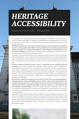 HERITAGE ACCESSIBILITY