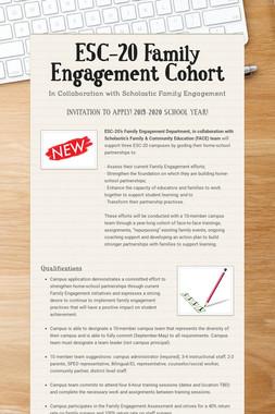 ESC-20 Family Engagement Cohort