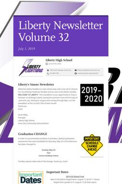 Liberty Newsletter Volume 32