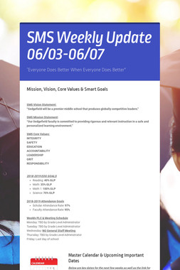 SMS Weekly Update 06/03-06/07
