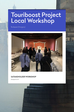 Touriboost Project Local Workshop