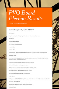 PVO Board Election Results