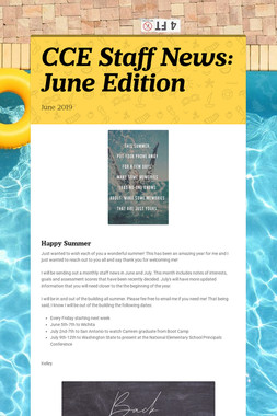CCE Staff News: June Edition