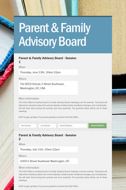Parent & Family Advisory Board