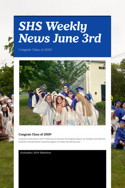SHS Weekly News June 3rd