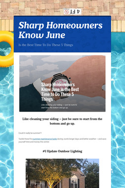 Sharp Homeowners Know June