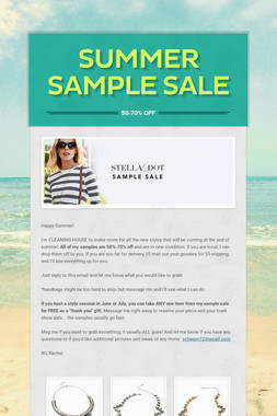 Summer Sample Sale