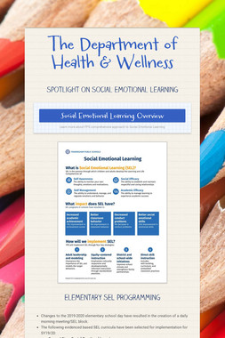 The Department of Health & Wellness