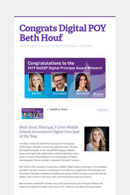 Congrats Digital POY Beth Houf