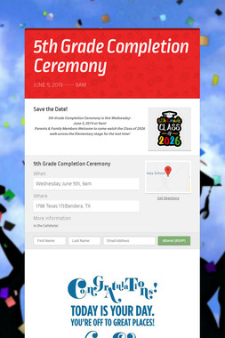 5th Grade Completion Ceremony