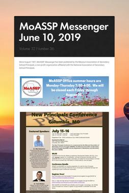 MoASSP Messenger June 10, 2019