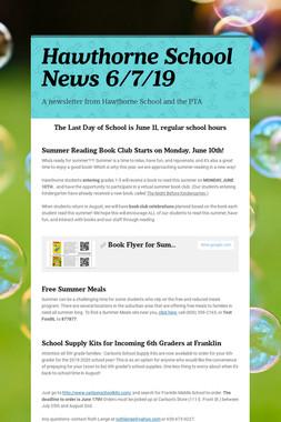 Hawthorne School News 6/7/19