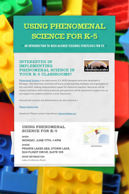Using Phenomenal Science for K-5