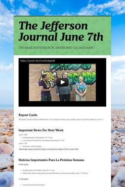 The Jefferson Journal June 7th