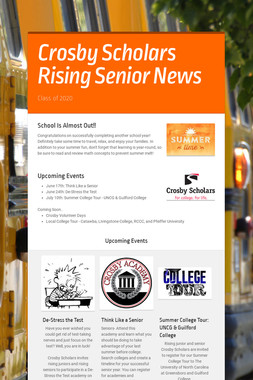 Crosby Scholars Rising Senior News