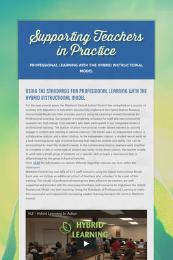 Supporting Teachers in Practice