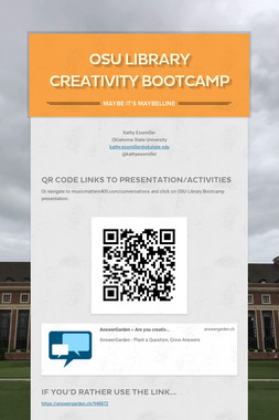 OSU Library Creativity Bootcamp