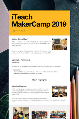 iTeach MakerCamp 2019