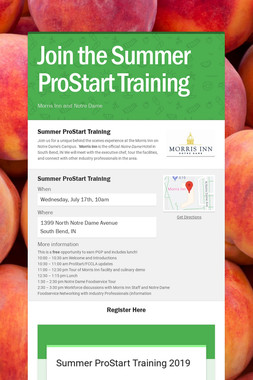 Join the Summer ProStart Training