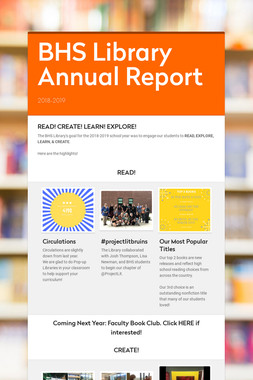 BHS Library Annual Report