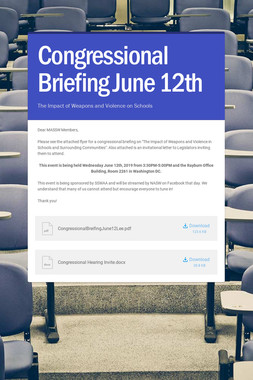 Congressional Briefing June 12th